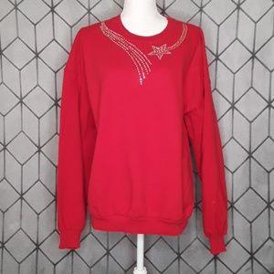 Red Shooting Star Sweat Shirt